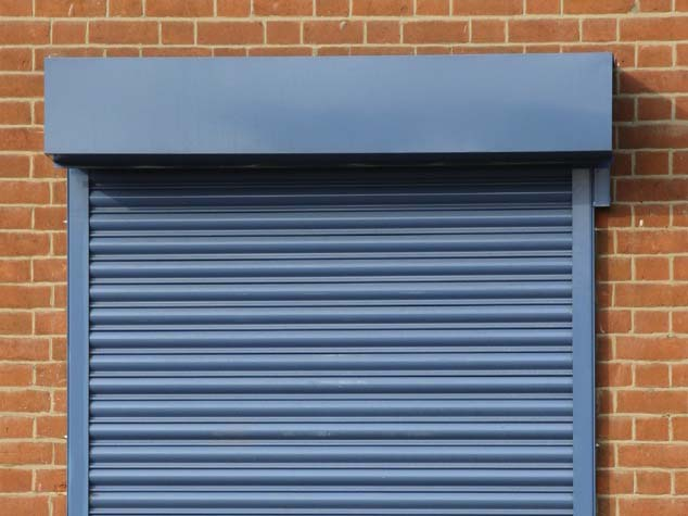home window shutters (color blue)
